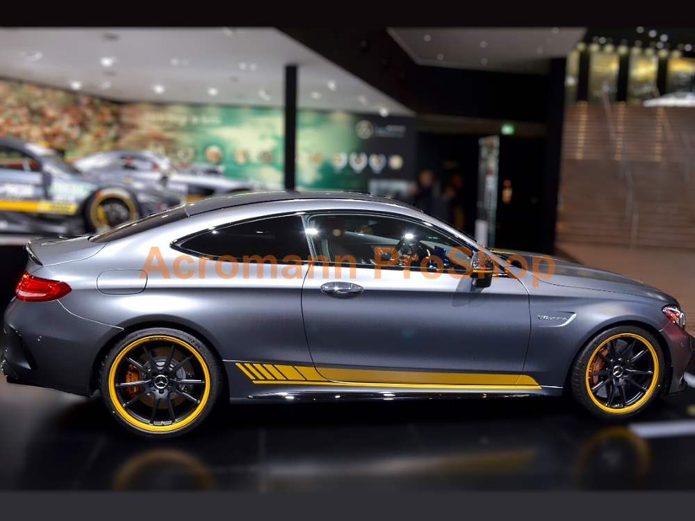 AMG C205 C63s Coupe Edition 1 Side Stripes Door Decals Sticker
